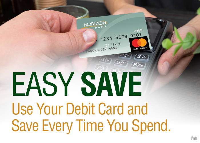 Easy Save debit card